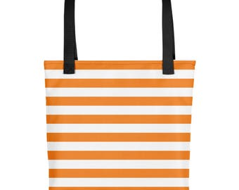 Horizontal Orange Stripes Tote bag