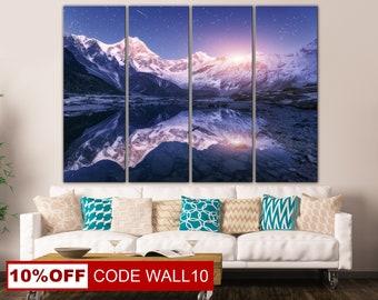 Mountain landscape, Mountains, Mountain View, Winter Mountains, Canvas Print, Mountains Photo, Great Mountains, Canvas Photo, Canvas, Print