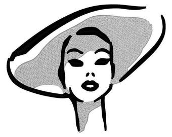 Audrey Hepburn Embroidery File
