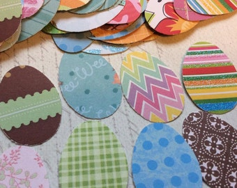 SET of 100 ASSORTMENT Easter Eggs punch die cut embellishments/trim/diy/Easter/embellishments/die cuts/scrapbooking/cards