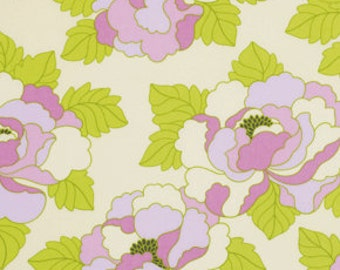 1 Yard Gorgeous HEATHER BAILEY Fabric Lottie Da - COLLECTION Go-Go Rose in Pink