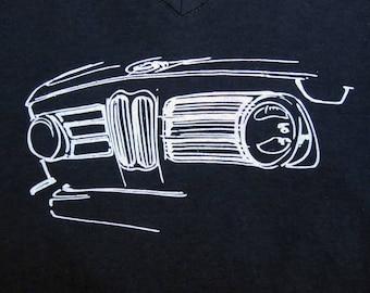 Women's BMW 2002 Custom hand-drawn grille T-shirt