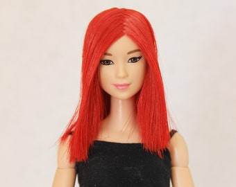 Red wig for Barbie doll 4 inch