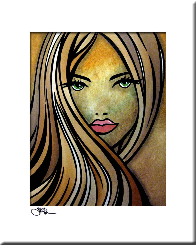 Wo bist du gewesen Original abstrakte Malerei Modern Pop-Art