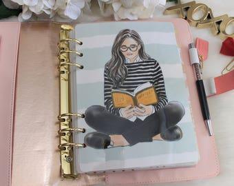 Bookworm, A5 Planner Dashboard,