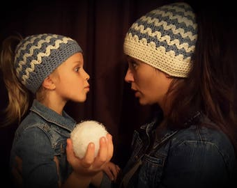 Mommy and Me Messy Bun Beanie