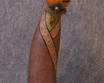 Sculpture Southwestern Maiden Fine Gourd Art