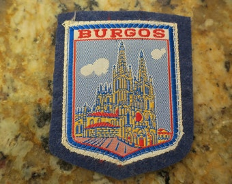 Vintage Burgos Spain Woven Travel Patch