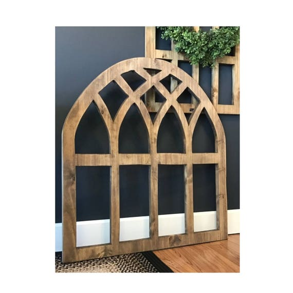 Brand-new Arch Wood Window 36 x 38 Wall Decor 3/4 GF11