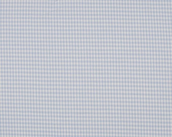 Blue gingham 2mm 100% cotton fabric
