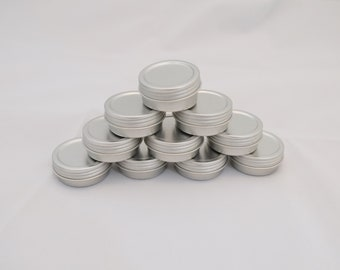 Case of 100 Tins Half ounce Screw top Tins New with shrink bands