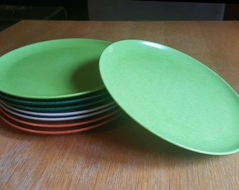 Set of 8 Branchell Melmac Colorflyte Plates