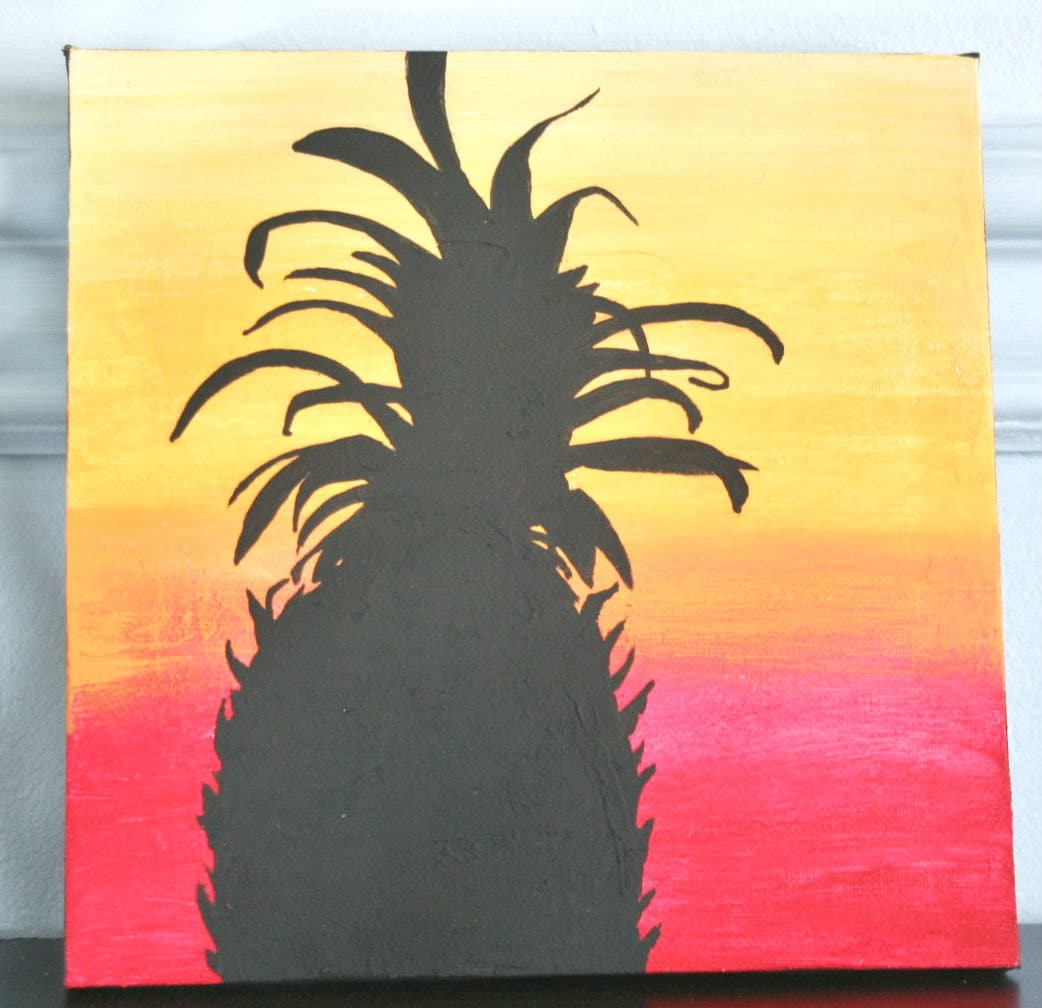 Pineapple Painting Welcome Painting Pineapple Silhouette