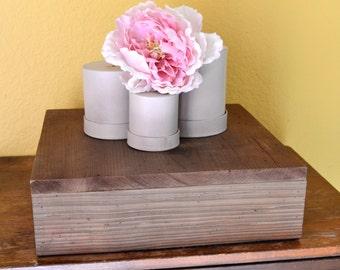 "16"" Wood Wedding Centerpiece, Wood Cake Stand, Wood Wedding Cake Stand, Wood Food Riser, Wooden Cake Stand, Wooden Food Riser"