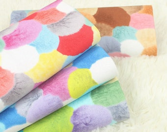Colorful Hair Balls - Japanese Cotton Fabric - Fat Quarter - 4 designs for choice - more for one cut - Handmade on show