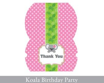Koala Pillow Box, Pillow Box printable, Treat Box Printable, Koala Party Printable, Koala Party Decorations