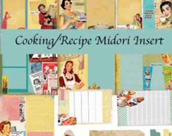 Traveler's notebook Insert -Cooking/Recipe (Digital paper)