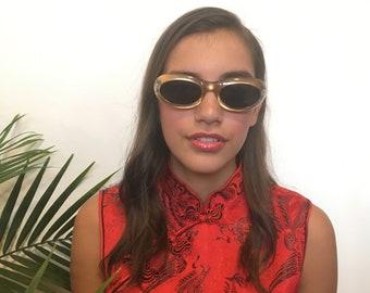 90s Gold Oval Sunglasses