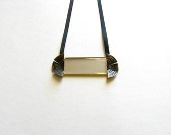Greek Necklace-Modern Greek Necklace-Oxidized-Patina Pendant Necklace-Statement Pendant Necklace-Contemporary Jewellery