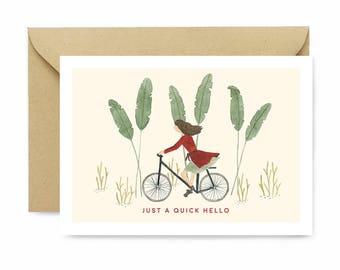 Everyday Card / Friendship Card Greeting Card / Valentinesday Card Anniversary Card / Fun Card / Hello Greeting Card / modern illustration