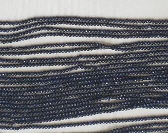"BLUE SAPPHIRE rondelle fact beads 2mm 13"" each"