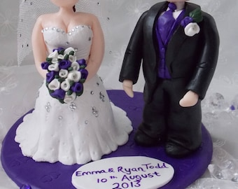 DEPOSIT ONLY please read details.   Personalised cake topper, clay, wedding, personalized anniversary, wedding gifts, bride and groom