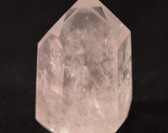 Quartz Crystal Polished Point with light shadowsfor meditation, healing & Reiki