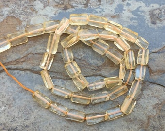 Rectangle Citrine Beads, Citrine Rectangle Beads, Citrine Brick Beads, Choose 7 x9 or 6 x 9mm, 13.5 inch strand