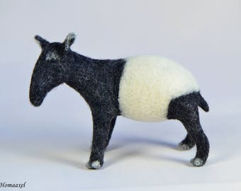 Needle felted Tapir