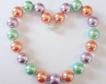 Chunky Bead Pearly Necklaces