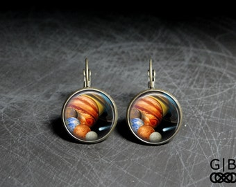 Solar System Earrings Planet Dangles Jewelry - Solar System Dangles Jewelry - Planet Earrings Solar System Jewelry - Solar System Earrings