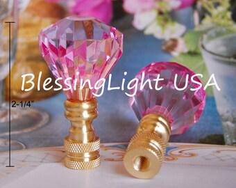 Acrylic Crystal Diamond Lamp Shade Finial