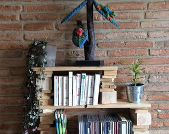 wooden pallet recycled standing or hanging shelf