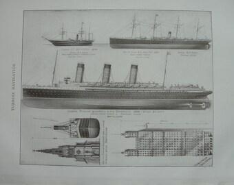 Sepia print -  Turbine Navigation - 1911