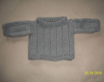 Gray Turtleneck for 18 inch Doll