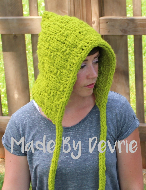 DIGITAL Download, Knit Hat, Elf Bonnet, Knit Bonnet, KNITTING ...