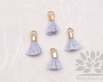 T010-PB// Pale Blue Tiny 10mm Tassel, 6 pcs