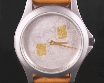 Silver Argentium Watch with 24k gold