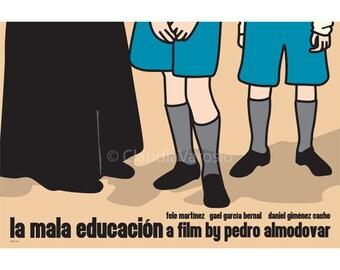 La mala educacion, or Bad Education, movie poster in various sizes