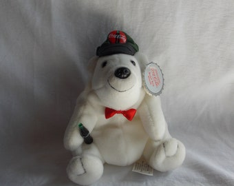 1997 CocaCola Bear with cap