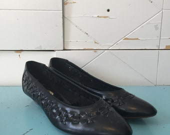 Vintage black leather shoes 6.5