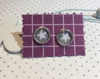 Star star earrings cabochon