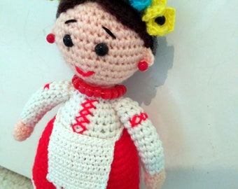 Ukrainian Collection Doll / Crochet Amigurumi Doll / Flower Doll