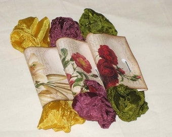 Scrunched Seam Binding ribbon, Crinkled Seam Binding Packaged Vintage Jewels ECS