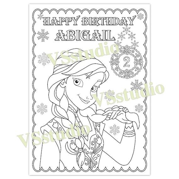 Página para colorear de helados cumpleaños archivo PDF