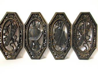 homco spanish armor plaques medieval armor wall plaque set conquistador armor sword shield helmet