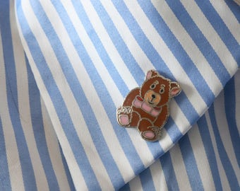 Vintage Mafco Bear Pin - Brown Bear Pin - Bear pin