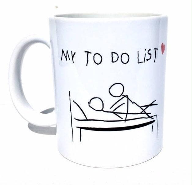 Funny Coffee Mug For Men My To Do List Funny Mug Naughty