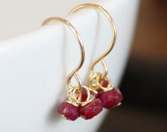 Choose Your Birthstone - Gold Gemstone Earrings