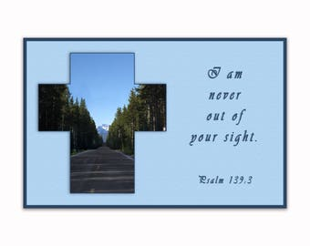"11"" x 17"" Never Out of Sight - Spiritual Wall Art"